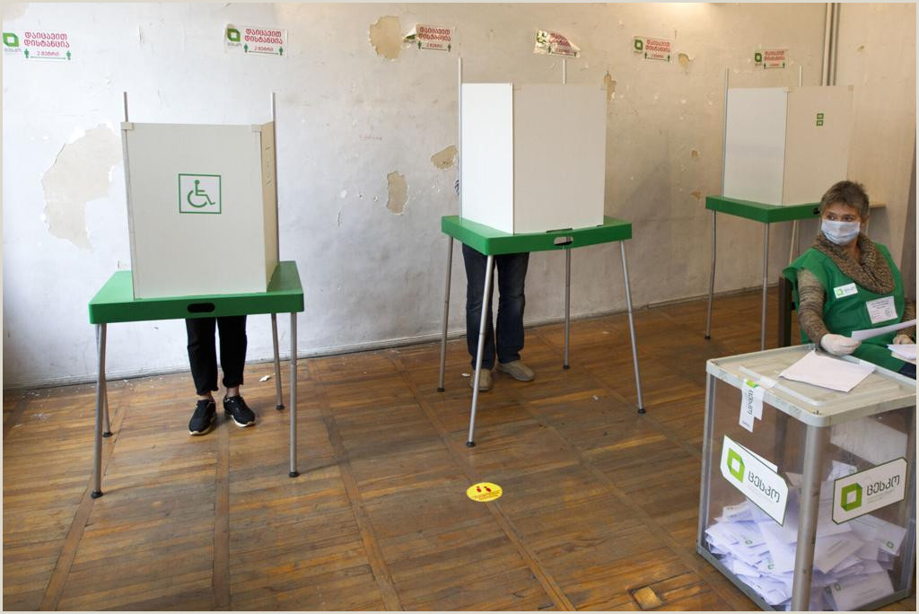 Title On Business Card Georgia S Ruling Party Claims Victory In Parliamentary Vote