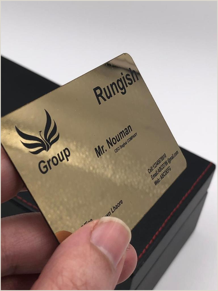 Title On Business Card Gold Plated Metal Business Card – Rungish