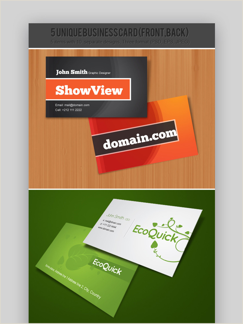 Top Business Card Designs 18 Free Unique Business Card Designs Top Templates To
