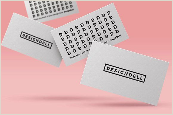 Top Business Cards Designs Floating Business Card Mockup
