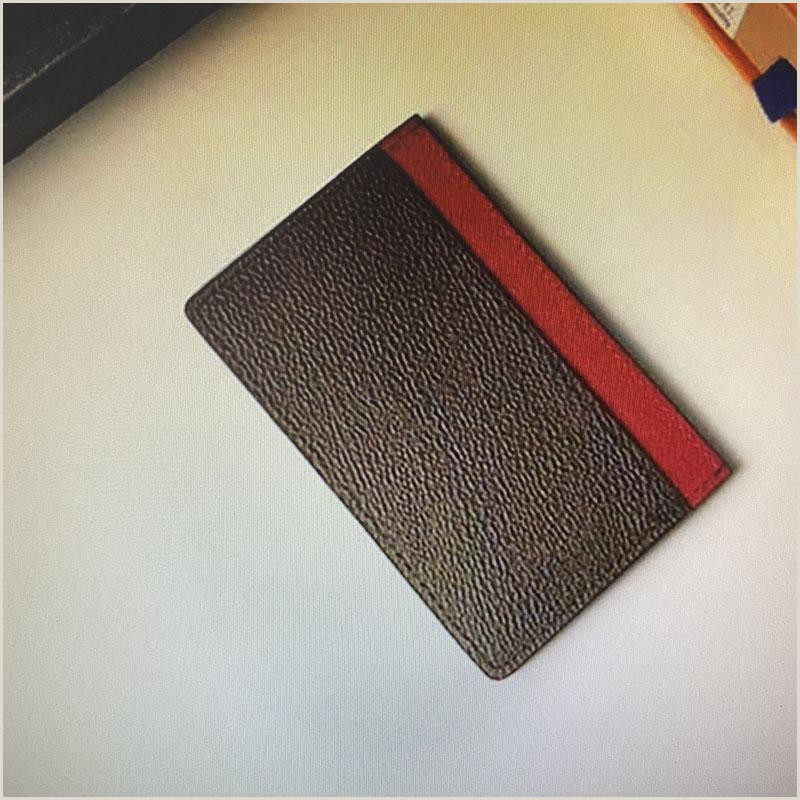 Top Business Cards M Hot Sale Top Quality Double Card Holders Neo Porte Cartes Vertical Wallet Credit Cards Mono Card Cover Business Ride Various Cards Handmade