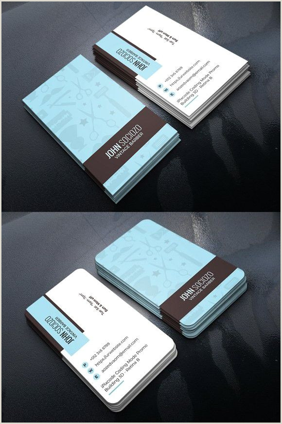 Type Of Business Cards Barber Business Card