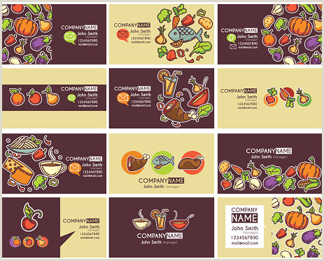 Type Of Business Cards Business Cards Templates And Frames Stock Illustration Download Image Now