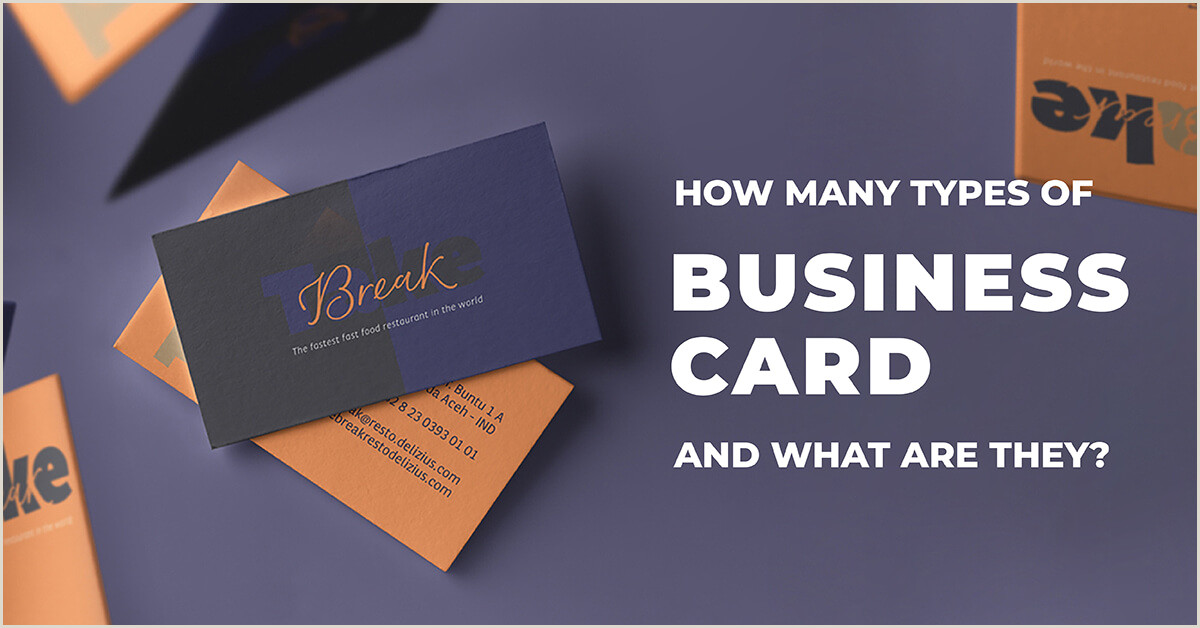 Type Of Business Cards How Many Types Business Card And What Are They Line