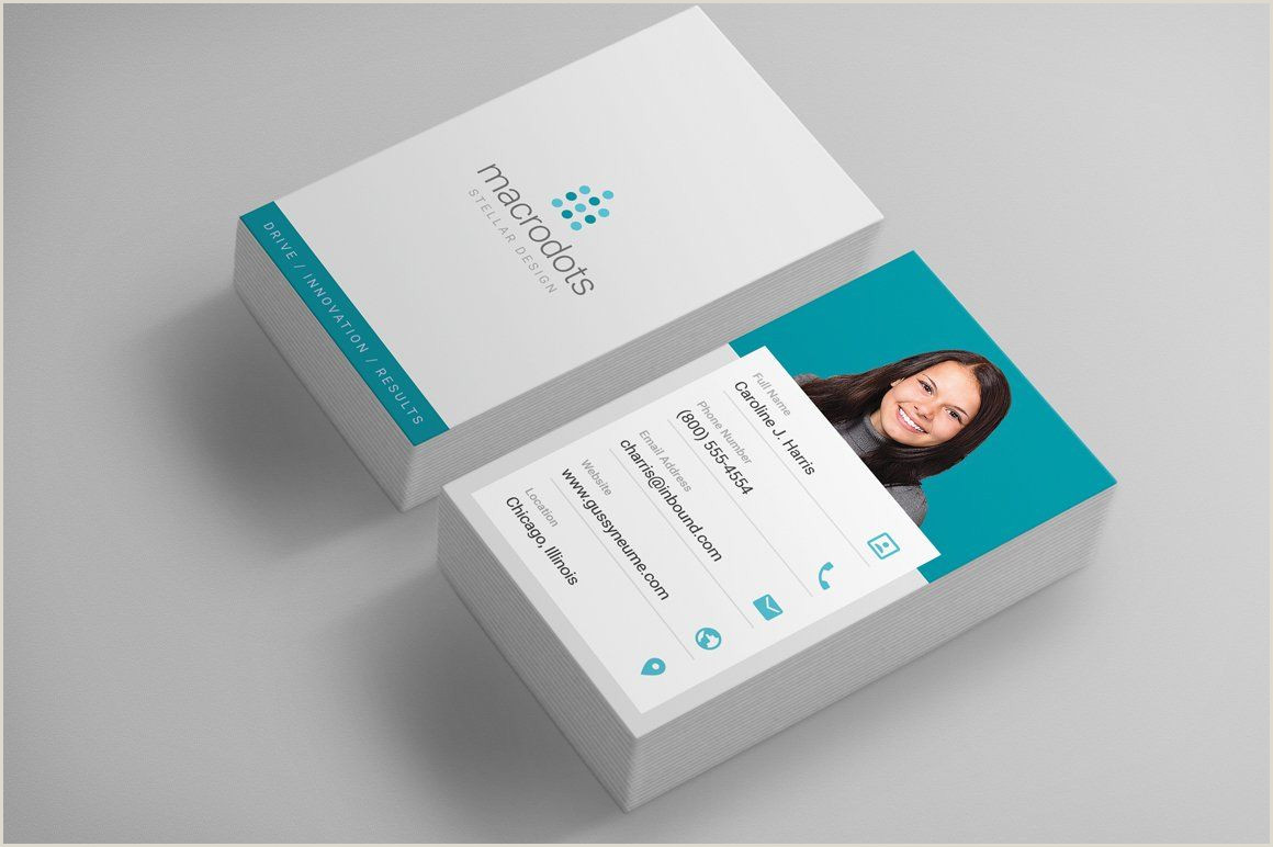 Types Of Business Card Clean Corporate Business Card In 2020