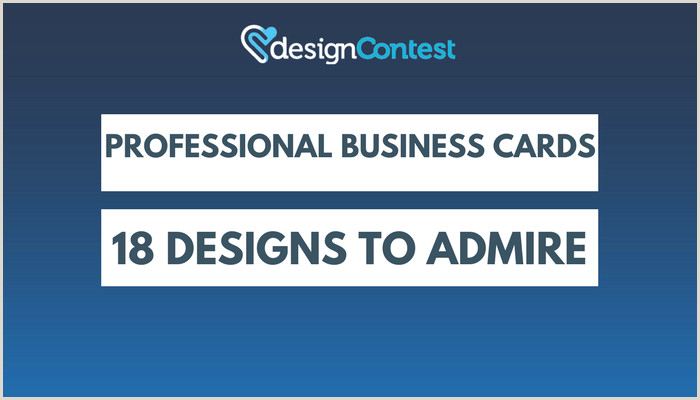 Types Of Business Card Professional Business Cards 18 Designs To Admire