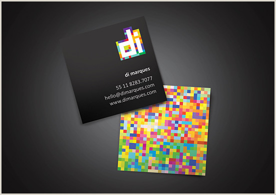 Unique Artist Square Business Cards 50 Square Business Cards Design