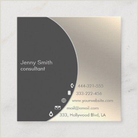 Unique Artist Square Business Cards Minimalist Simple Professional Gold Geometrical Square