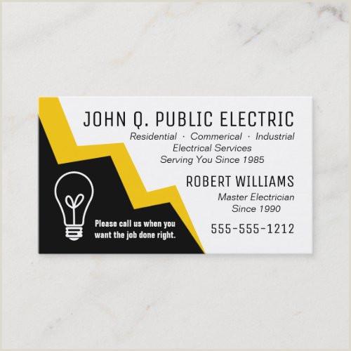 Unique Badass Electrician Business Cards Business Cards Electrician