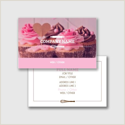 Unique Bakery Business Cards 27 Creative Bakery Business Cards Examples