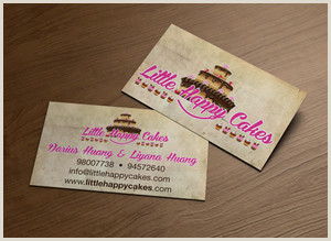 Unique Bakery Business Cards Bakery Business Cards
