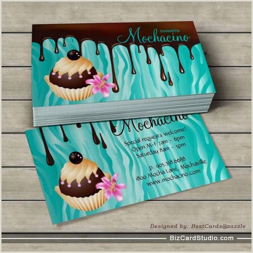 Unique Bakery Business Cards Chocolate Business Card Bakery Cupcake