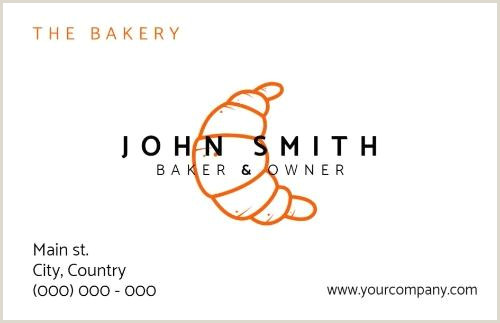 Unique Bakery Business Cards Personalize Bakery Business Cards For You