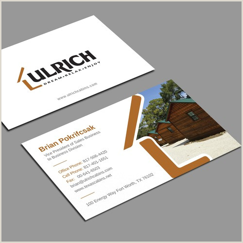 Unique Business Card Design Ulrich Cabins B2b Business Cards