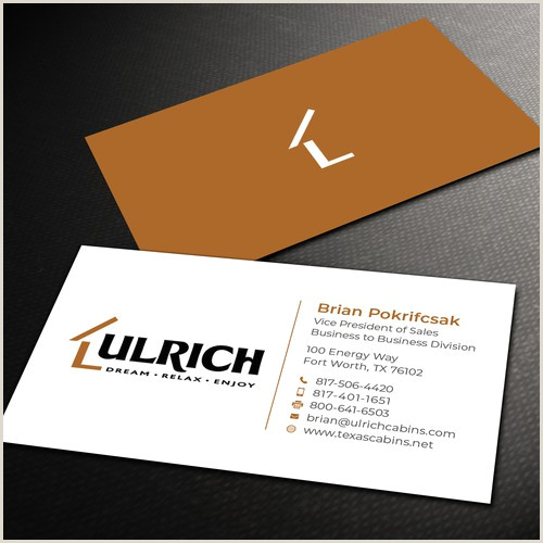 Unique Business Cards Accounting Category Ulrich Cabins B2b Business Cards