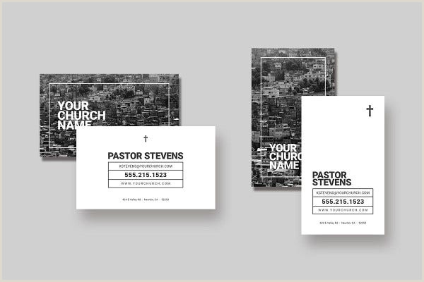 Unique Business Cards Church Or Pastors 17 Best Church Business Card Templates In Pdf Doc