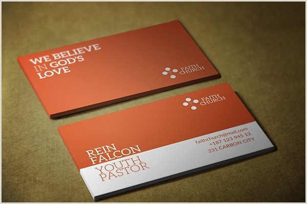 Unique Business Cards Church Or Pastors Free 7 Best Church Business Card Examples & Templates