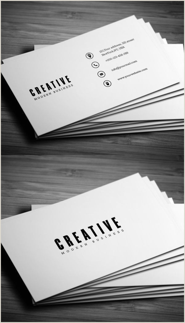 Unique Business Cards Container Minimal Business Card