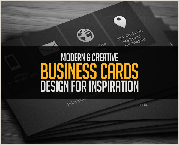 Unique Business Cards Design Modern Business Cards Design 26 Creative Examples
