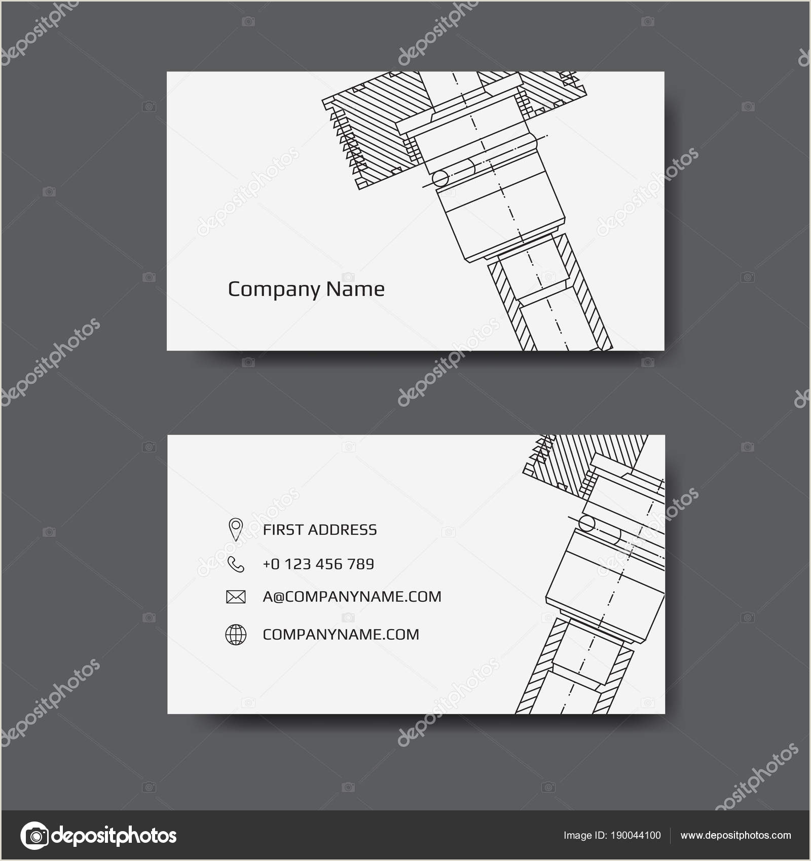 Unique Business Cards Engineering Business Card For Engineer And Mechanical Engineering Business Card