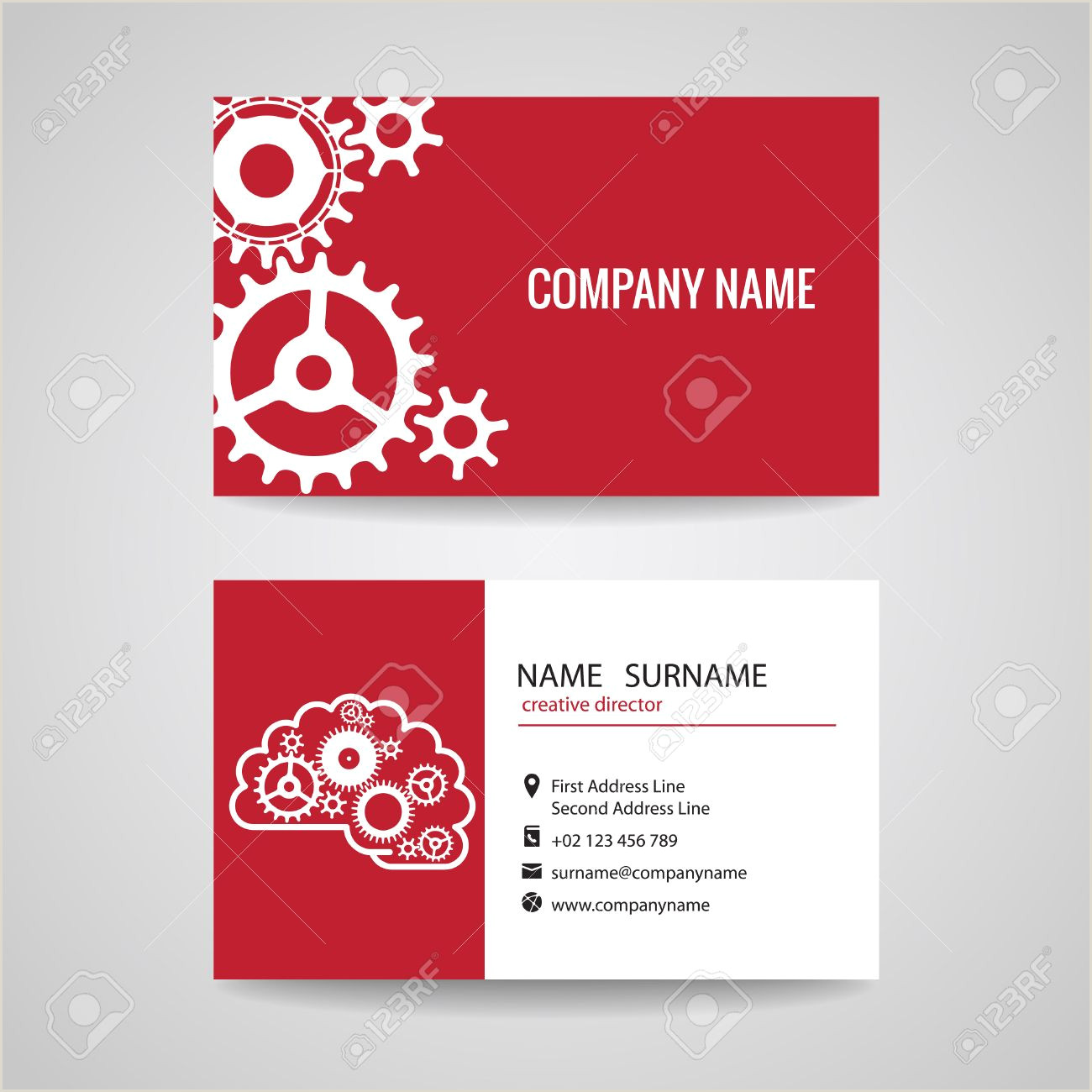 Unique Business Cards Engineering Business Card Gear Idea For Engineer And Mechanical