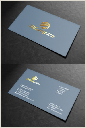 Unique Business Cards For A Bookkeeper Accounting Business Cards