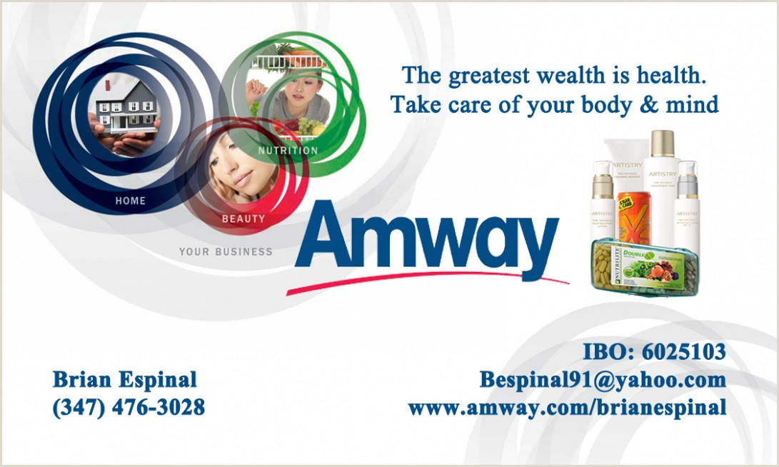 Unique Business Cards For Annuity Brokers Amway Minimum Monthly Purchase
