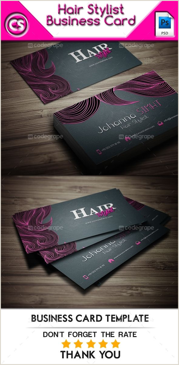 Unique Business Cards For Hairstylist Hair Stylist Business Card