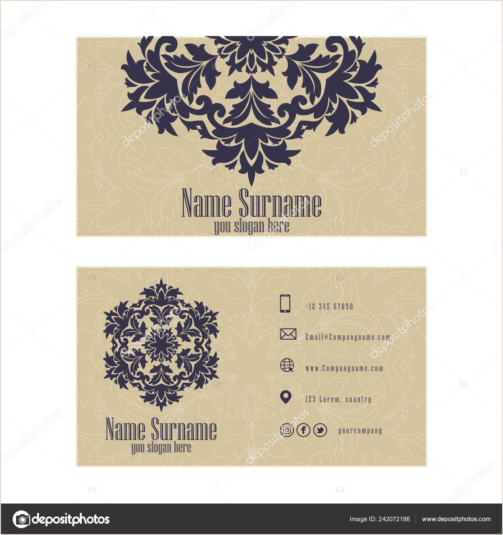 Unique Business Cards For Image Consultant Corporate Business Or Visiting Card Professional Designer Vector Abstract Creative Business Cards