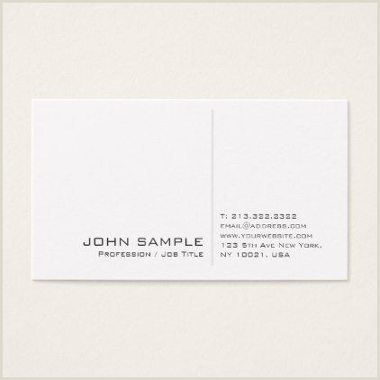 Unique Business Cards For Image Consultant Creative Modern Professional Simple White Plain Business