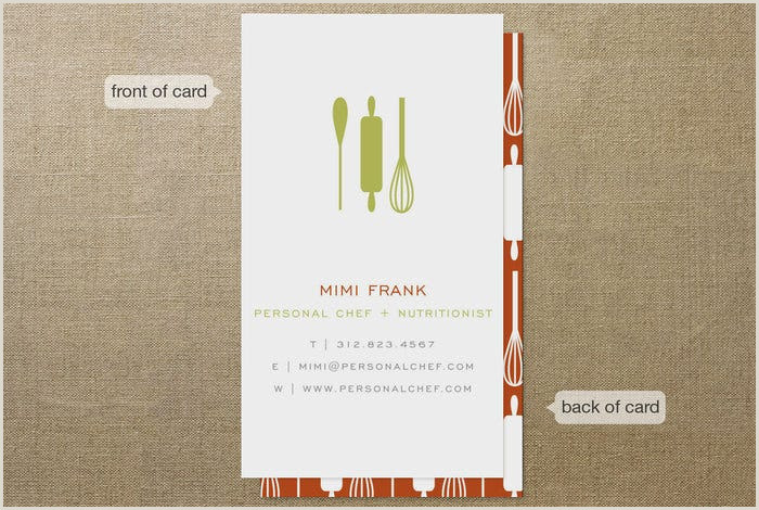 Unique Business Cards For Personal Chefs 22 Creative Chefs Business Card Templates Psd Word Ai
