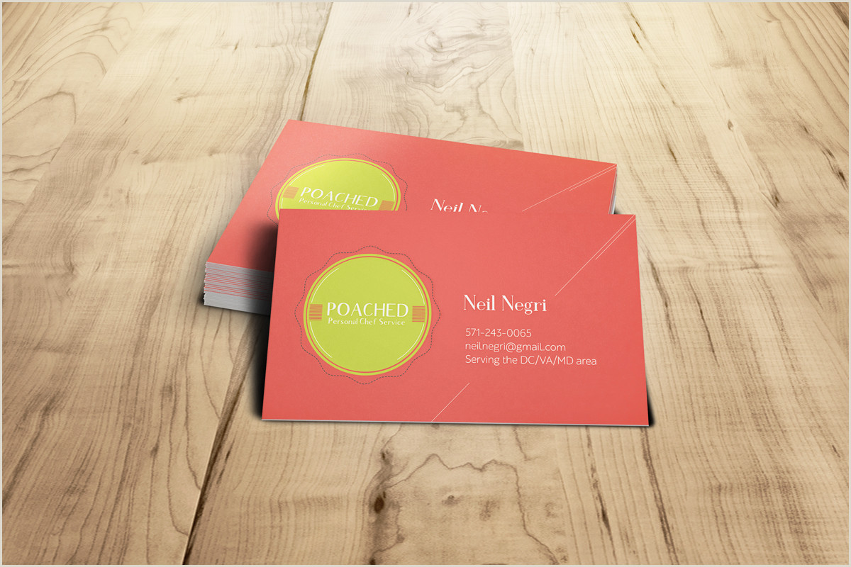 Unique Business Cards For Personal Chefs Personal Chef Business Card Design