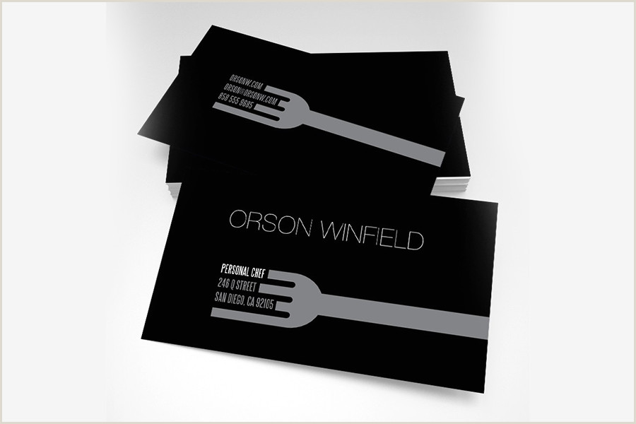 Unique Business Cards For Personal Chefs Top 25 Examples Of Professional Chef Business Cards