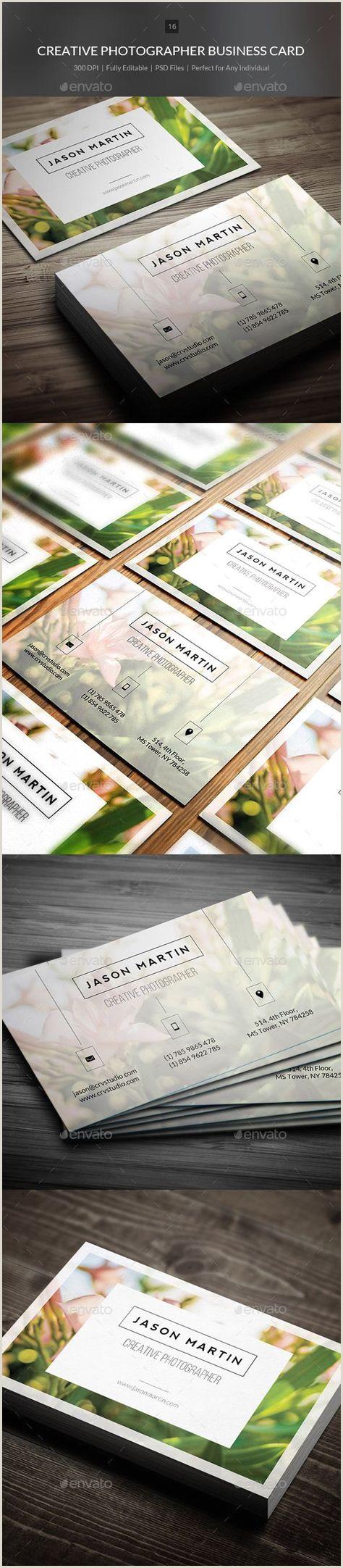 Unique Business Cards For Photographers 40 Trendy Ideas Photography Business Cards Template Creative