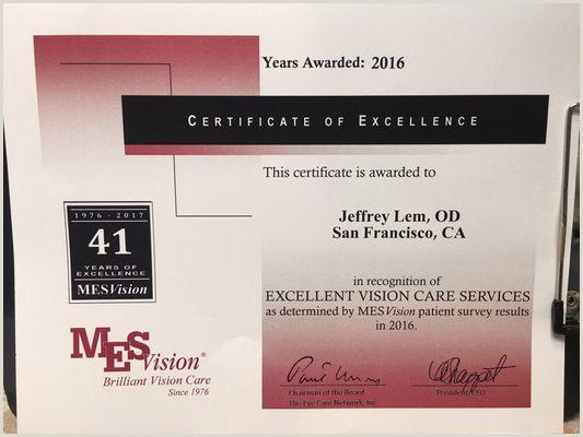 Unique Business Cards For Service Excellance Jeffrey Lem Od 120 Kearny St San Francisco Ca Optometrists