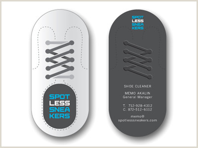 Unique Business Cards For Shoe Store Spotless Sneakers Cards