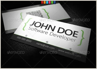 Unique Business Cards For Software Developers 36 Developer Business Card Templates Psd Designs