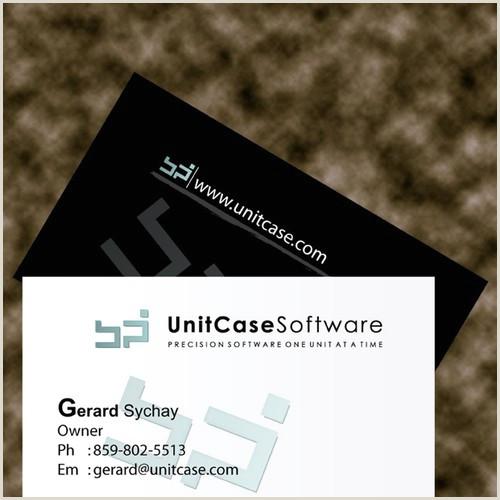 Unique Business Cards For Software Developers Need Business Card Design For Independent Software Developer