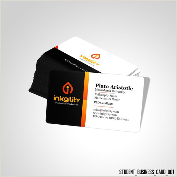 Unique Business Cards For Students 21 Student Business Card Templates Psd Word Pages