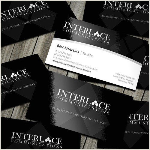 Unique Business Cards For Video Production New Business Card Design For Video Production Pany