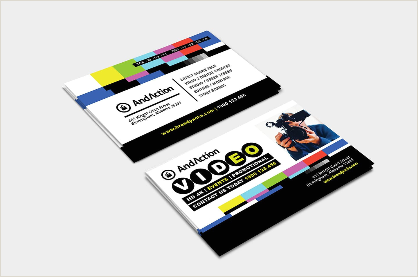Unique Business Cards For Video Production Videographer Business Card Template In Psd Ai & Vector