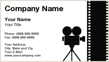Unique Business Cards For Video Production Videographer Business Cards