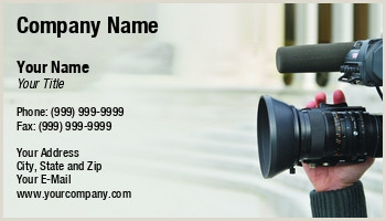 Unique Business Cards For Video Production Videography Business Cards