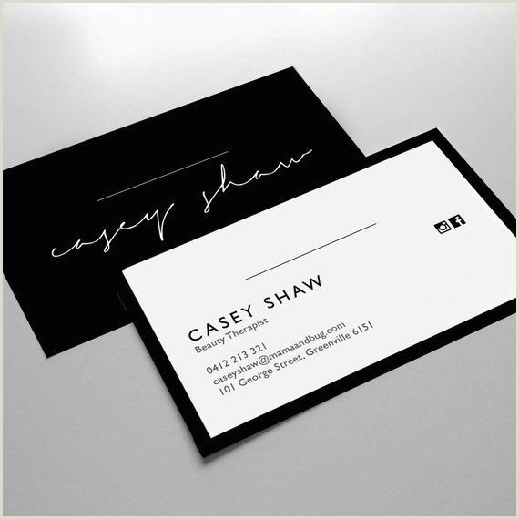 Unique Business Cards Front And Back Business Card Design Business Card Template Small