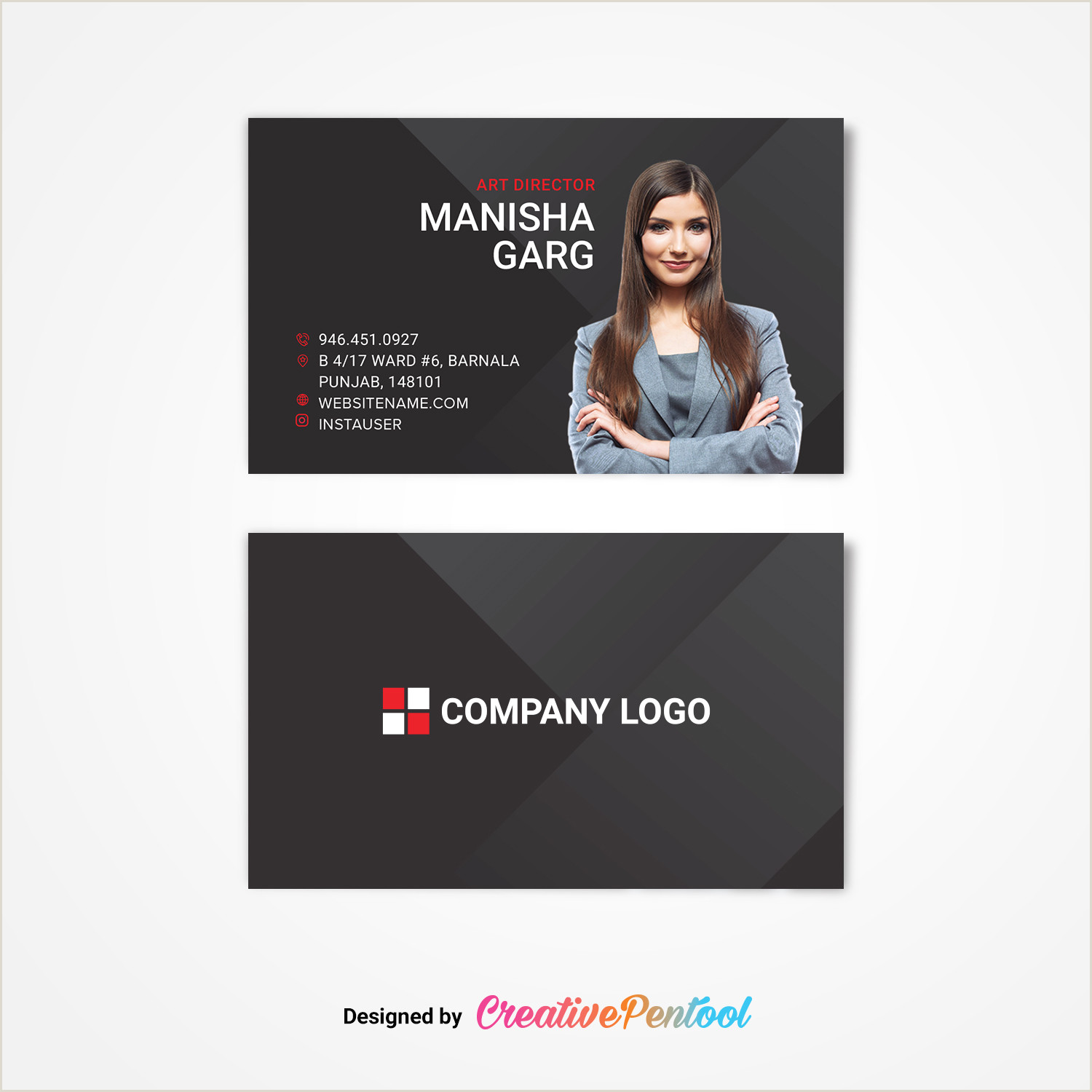 Unique Business Cards Headshot Business Card With Headshot Creativepentool