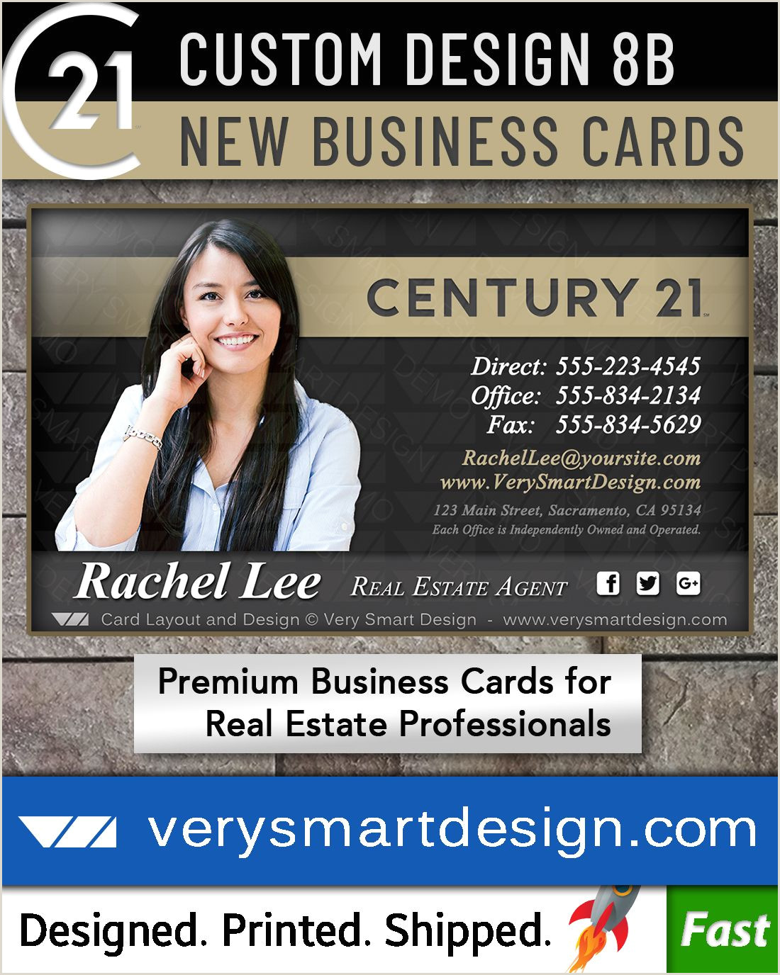 Unique Business Cards Headshot New C21 Logo Agent Real Estate Business Cards Century 21