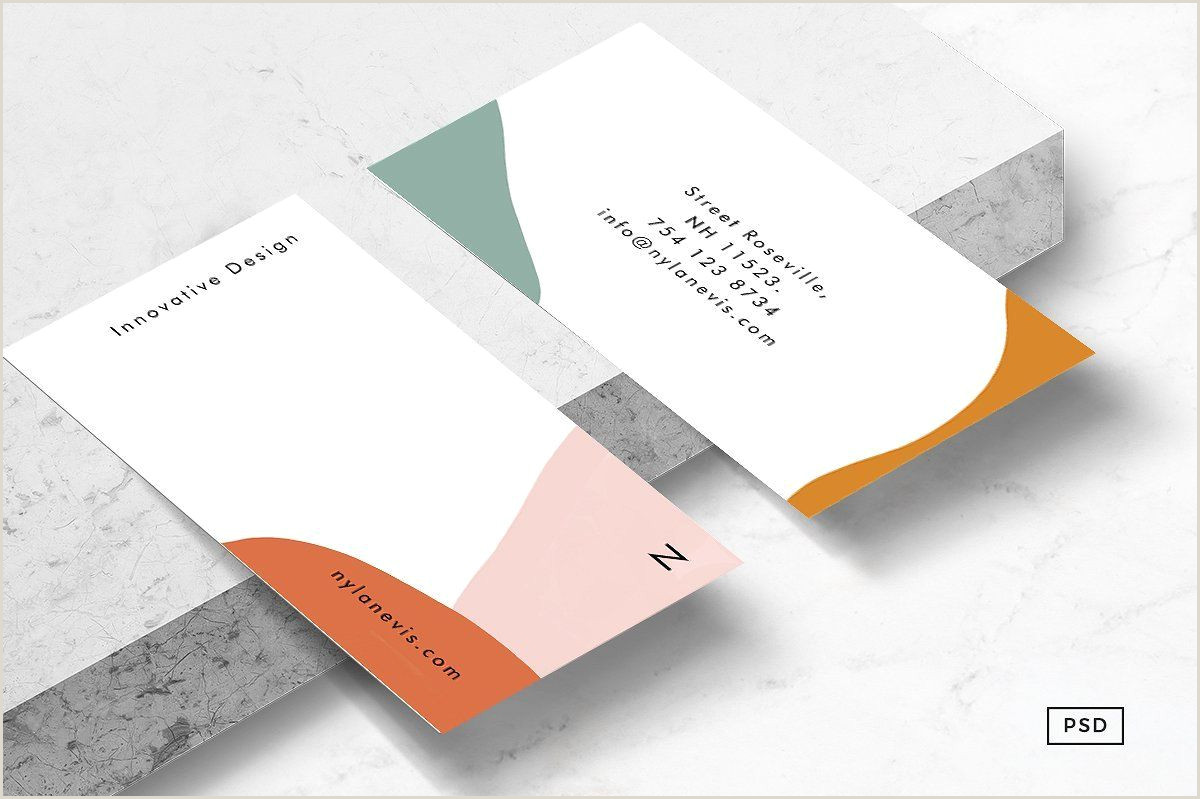 Unique Business Cards Materials Isla Business Card Template