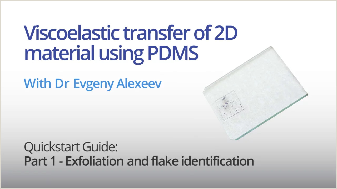 Unique Business Cards Materials Viscoelastic Transfer Of 2d Material Using Pdms Quickstart Guide Part 1 Exfoliation