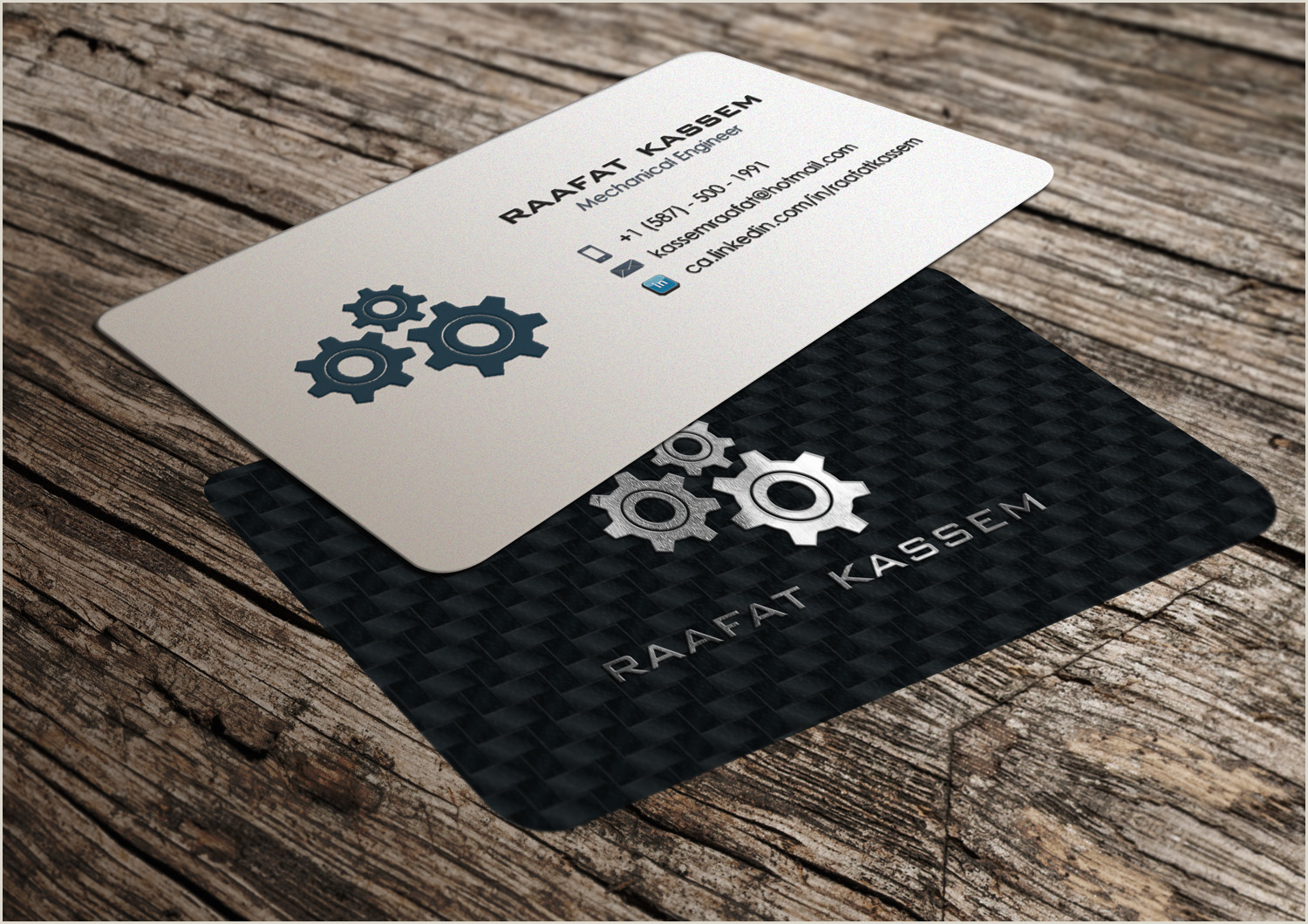 Unique Business Cards Mechanical Mechanical Engineer Business Card Design Unemployed