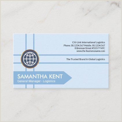 Unique Business Cards Nyc Blue Crisscross Logistics Lines Supply Chain Business Card